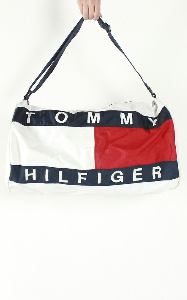 d0a8add471 Vintage Tommy Hilfiger Logo Duffle Bag