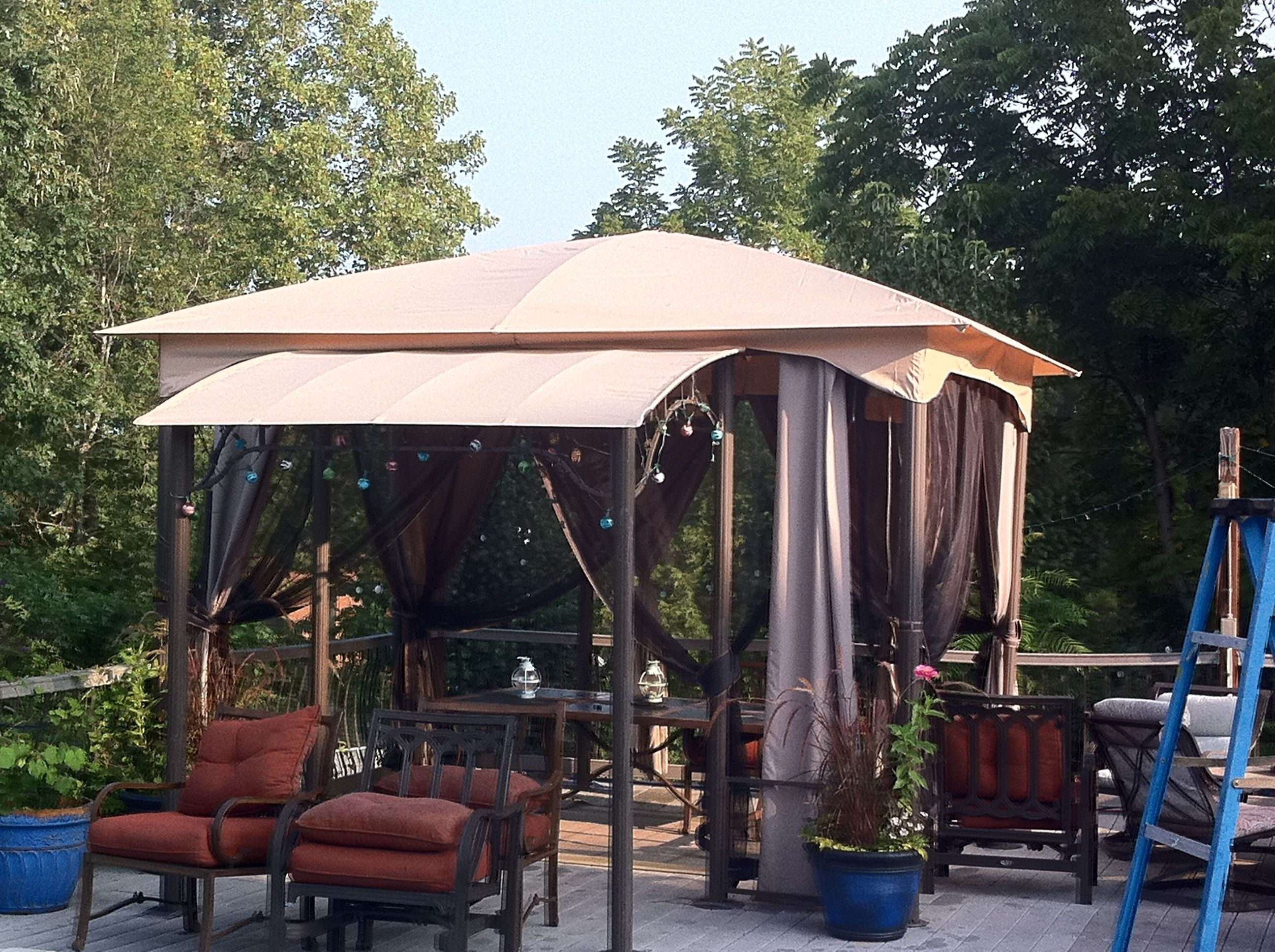 loading itm gazebo patio with is double image backyard canopy vented mosquito netting roof