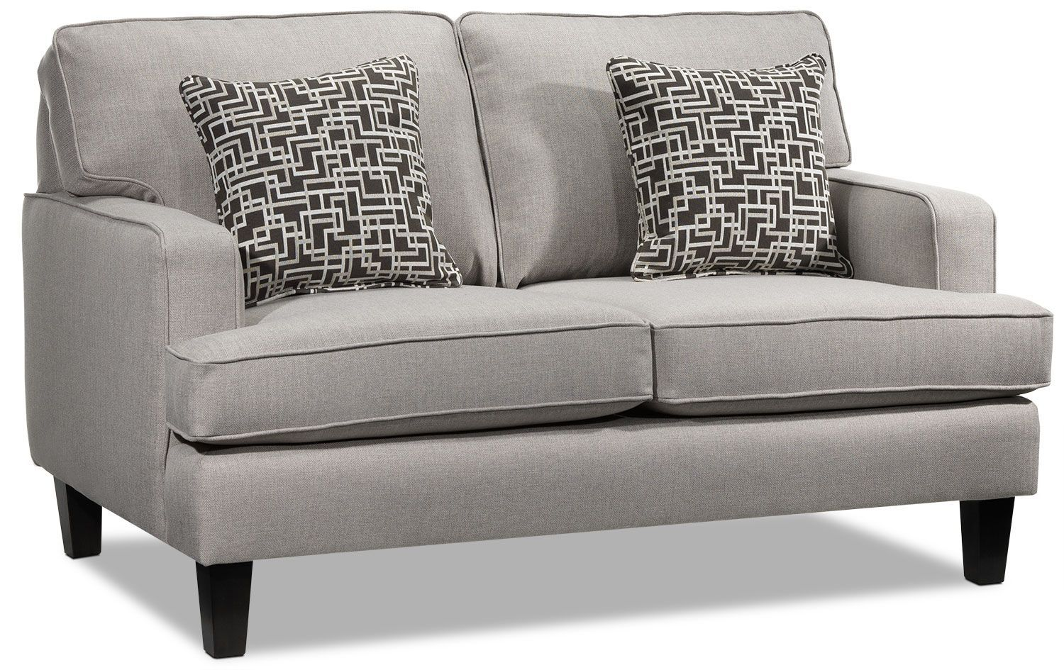 living room furniture  jango loveseat  taupe with
