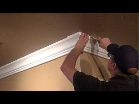 Hollow crown moulding. Hide cables behind the moulding! Crown ...