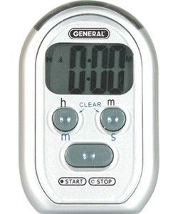Kitchen Timer For Hearing Impaired Bistro Ti150v Vibrating Light Flashing Silent Beeping Bis