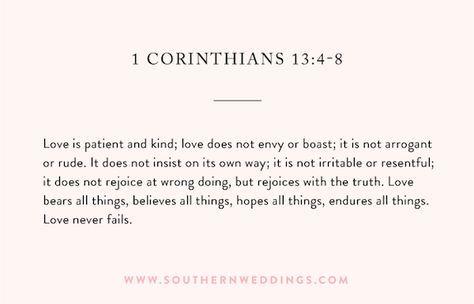 Wedding Ceremony Reading From 1 Corinthians 13