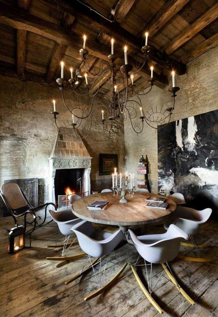 Ideen Wandgestaltung Wohnideen Wohnzimmer Wanddesign Ideen Steine Holzboden