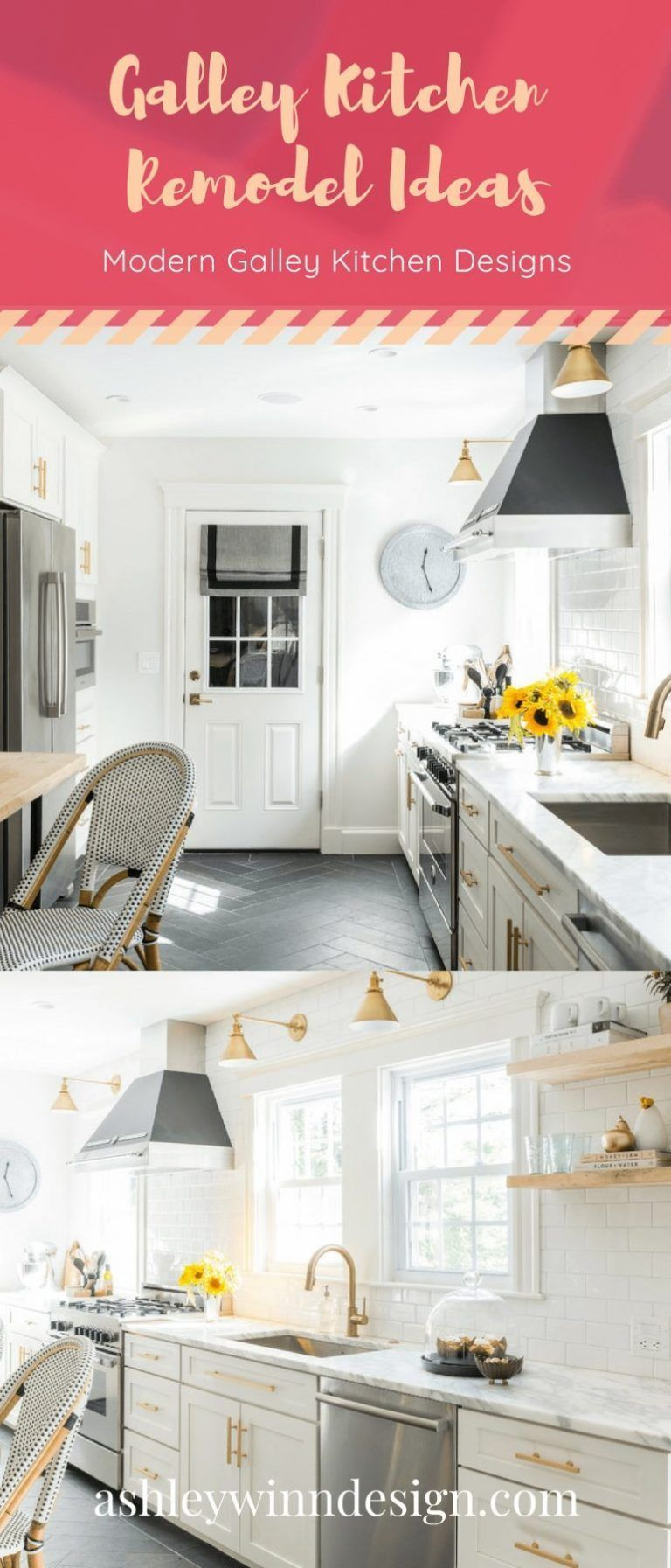 29 Awesome Galley Kitchen Remodel Ideas, Design, & Inspiration #whitegalleykitchens 29 Awesome Galley Kitchen Remodel Ideas, Design, & Inspiration #opengalleykitchen