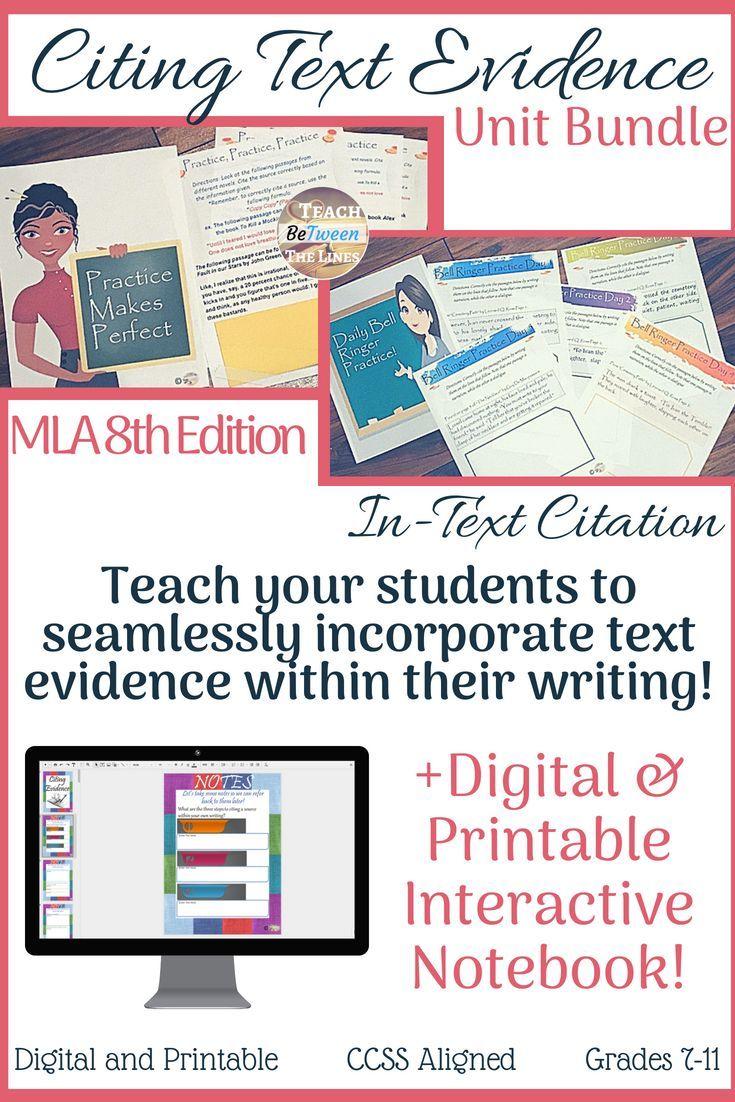 Pin On Ela High School Cite Book Chapter Mla 8