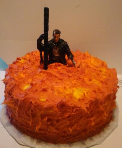 Terminator Birthday Cake Weird Cakes Amp Party Treats