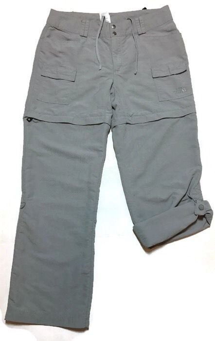 NORTH FACE Pants 8 Shorts Zip-off Convertible Capris Paramount Porter UPF 30+   #TheNorthFace #Convertible