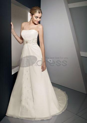 Verano suntuosos vestidos de novia strapless 2012 bastante ...