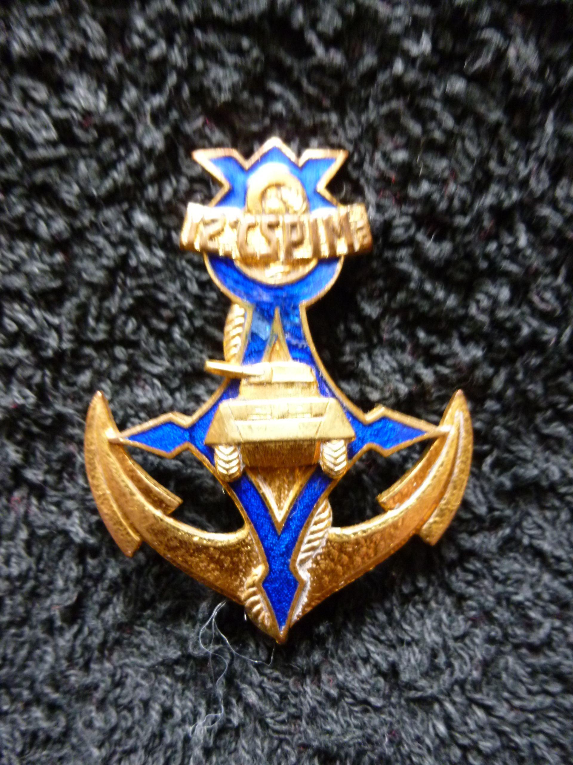 12e Cie Saharienne Portée d'Infanterie de Marine | Military insignia