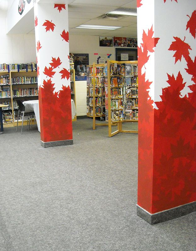 Crosby Heights P S Pillars Library Cindy Scaife Pillars Mural Design Library Decor