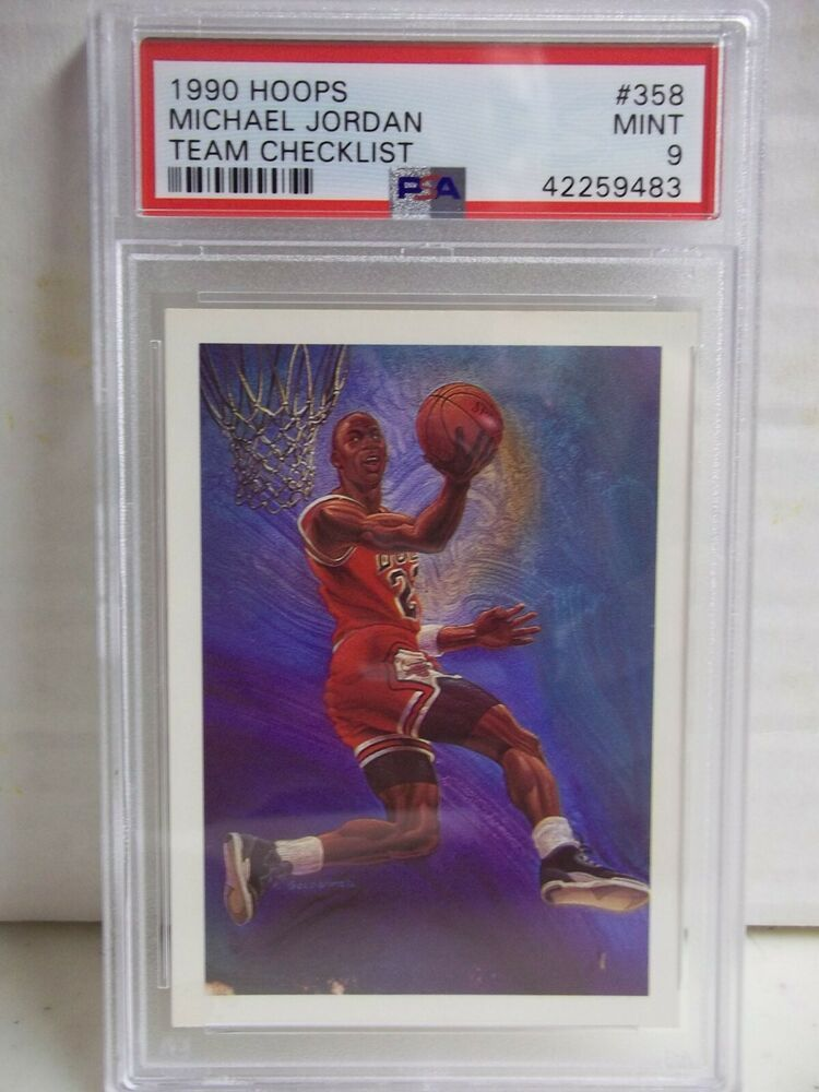 1990 hoops michael jordan psa mint 9 basketball card 358