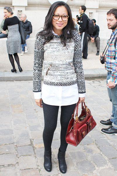 Paris Fashion Week Street Style: Gryphon Elle Pullover
