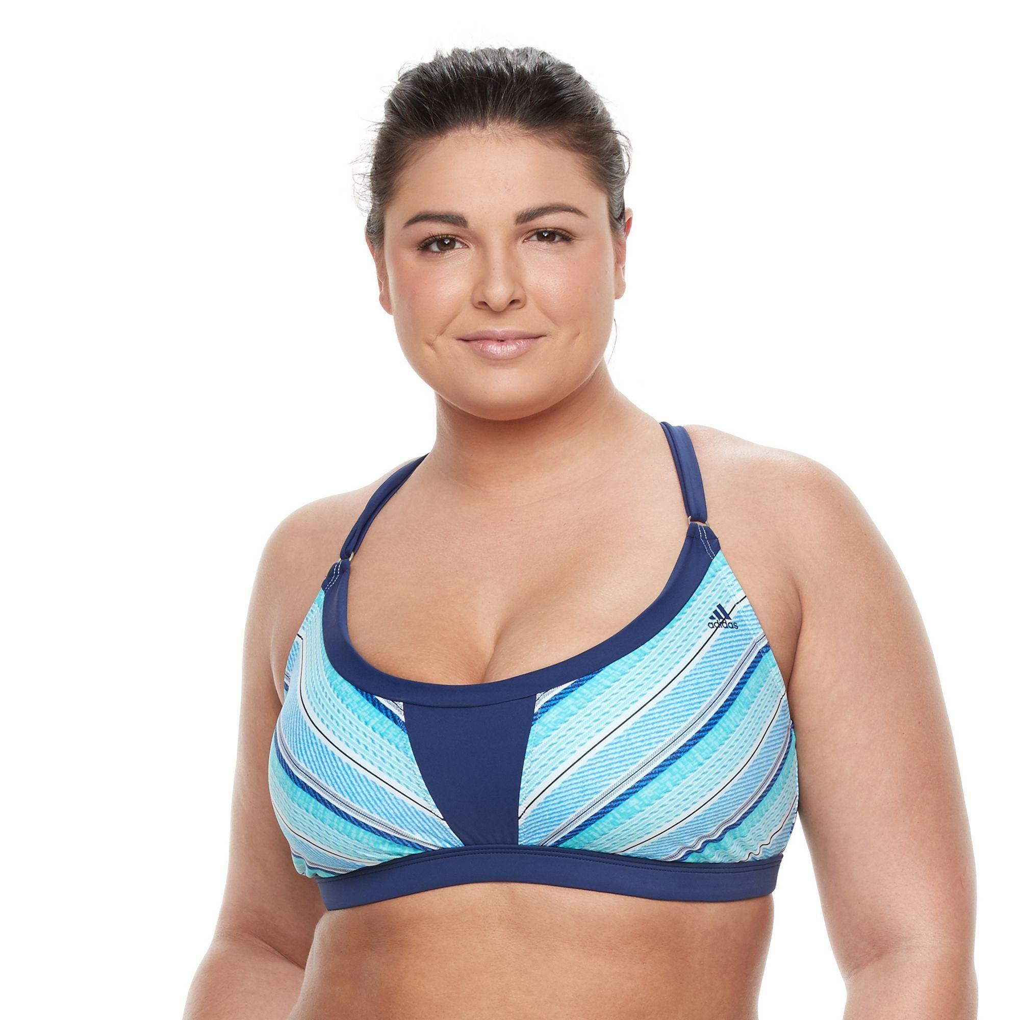 Plus Size Top, Adidas Strike a Pose Pose Sporty Bikini Bikini Top, Mujer, Tamaño: 3XL cfc0235 - grind.website