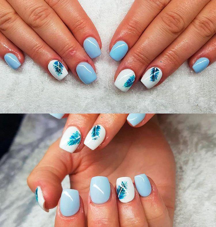 Easy Diy Summer Nails Valentines Day Nailcolorsforsummer Square Acrylic Nails Blue Acrylic Nails Acrylic Nail Designs