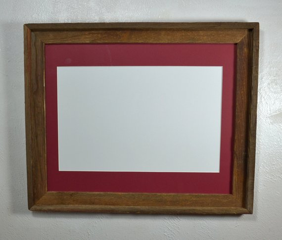 Poster Frame Reclaimed Wood 11x17 Cabernet Red Mat 16x20 Without Mat Fits An 11x14 12x16 11x17 Or 12x18 Reclaimed Wood Frames Frame Wood