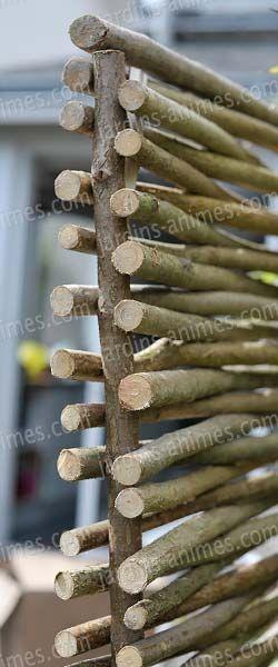 Panneau noisetier tressage horizontal ou vertical Noisetier - Ou Trouver De La Terre De Jardin