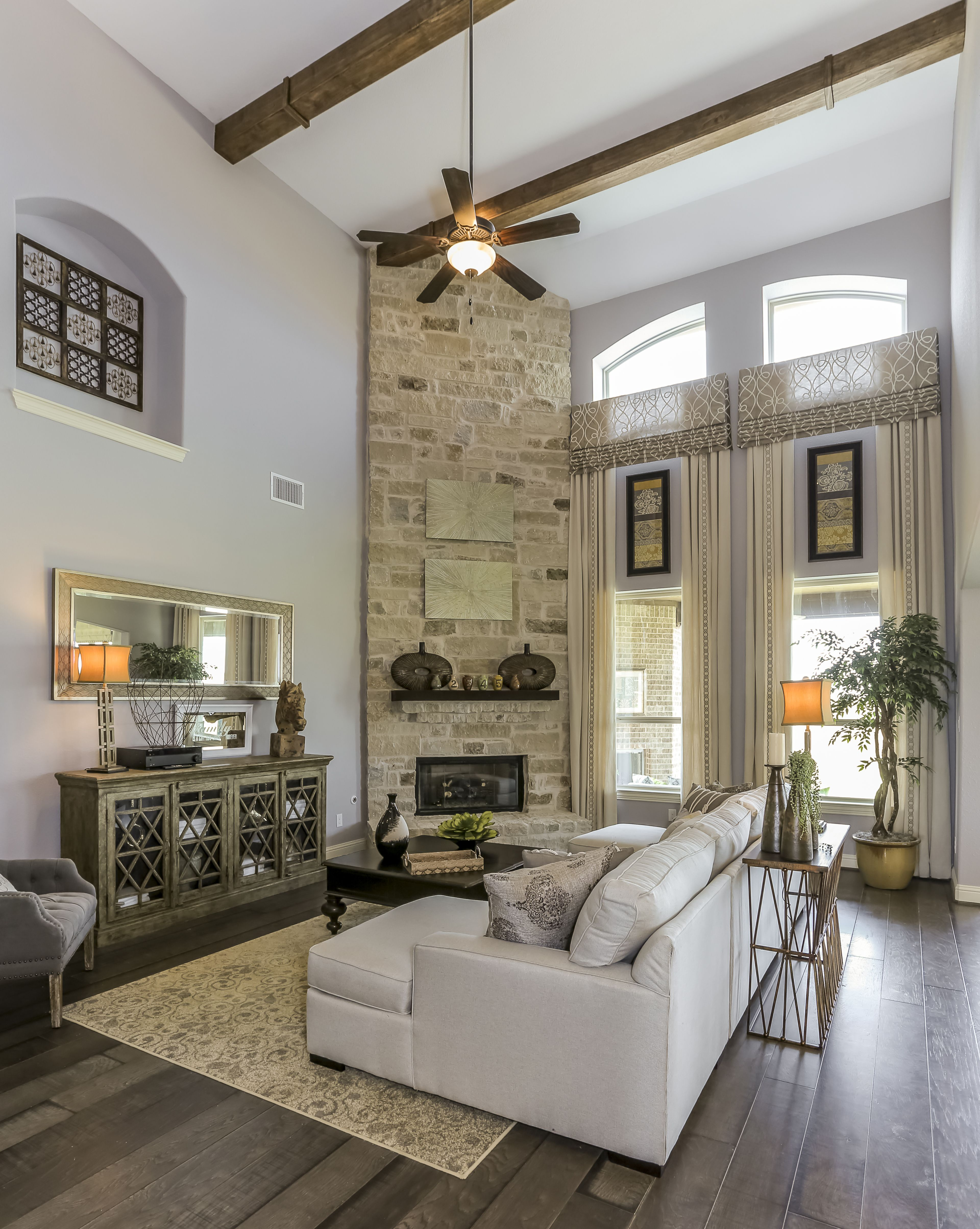 gehan homes stanford fireplace beige stone fireplace with dark