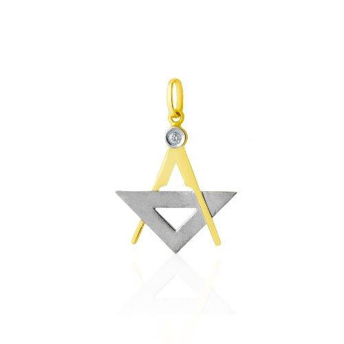 Pingente em Ouro 18k de Formatura com Símbolo de Arquitetura pi18055 -  Joiasgold  arquitetura  formatura  pingente  joia 968603dac5