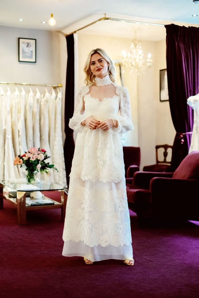 9353327695f7 And the Bride Wore  Pandora Sykes  Wedding Dress Fitting