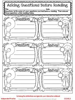 Freebie...Interactive Notebook Lessons for Common Core