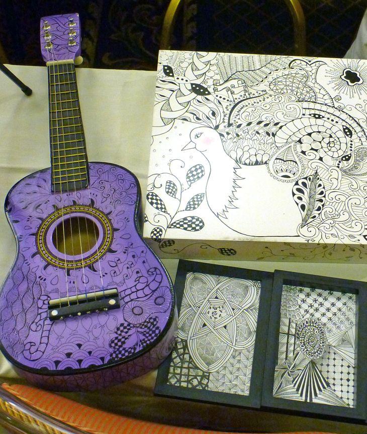 I SO want to decorate a guitar!  Zentangle: Seminar IX