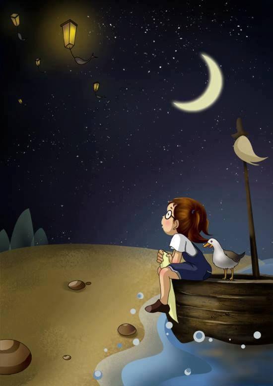 Pin De Daniela Grecco En Beautiful Ilustracion De Noche Buenas Noches Luna Arte De Animacion