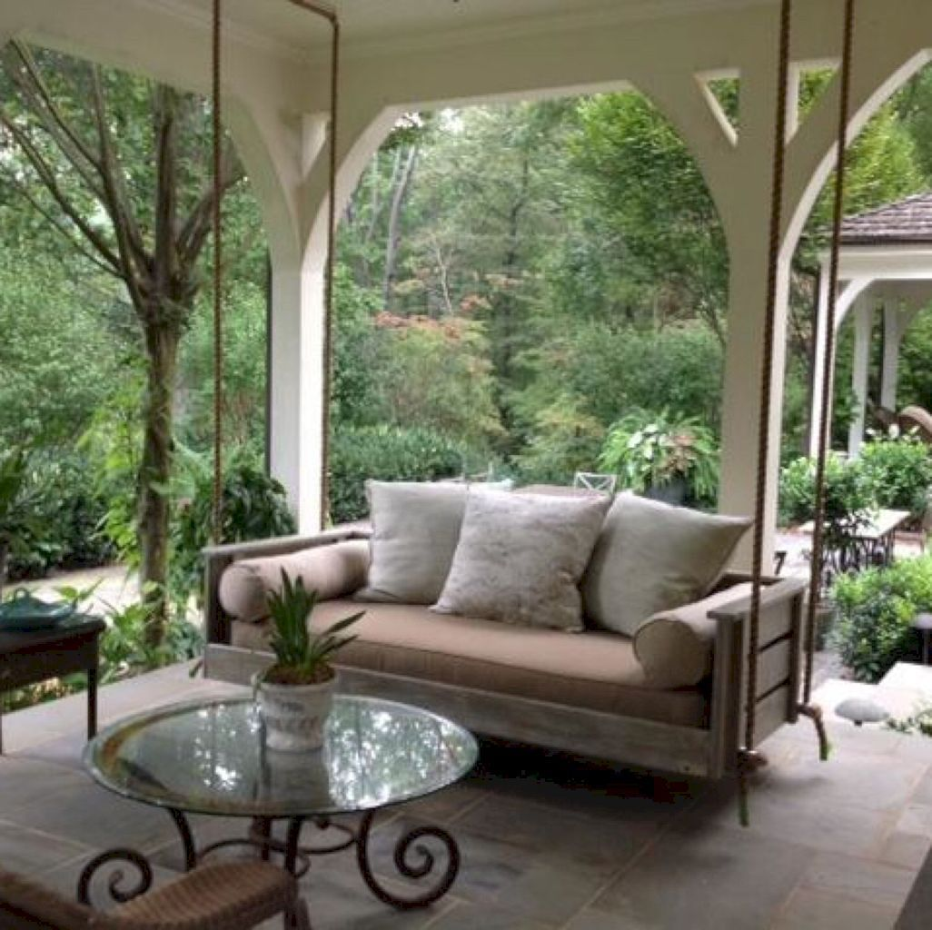 36 cozy rustic porch swing ideas for your backyard porch swings