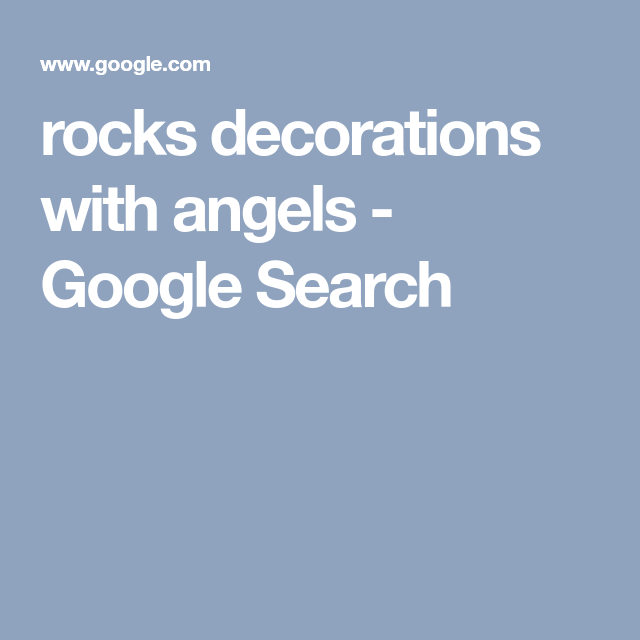 rocks decorations with angels - Google Search