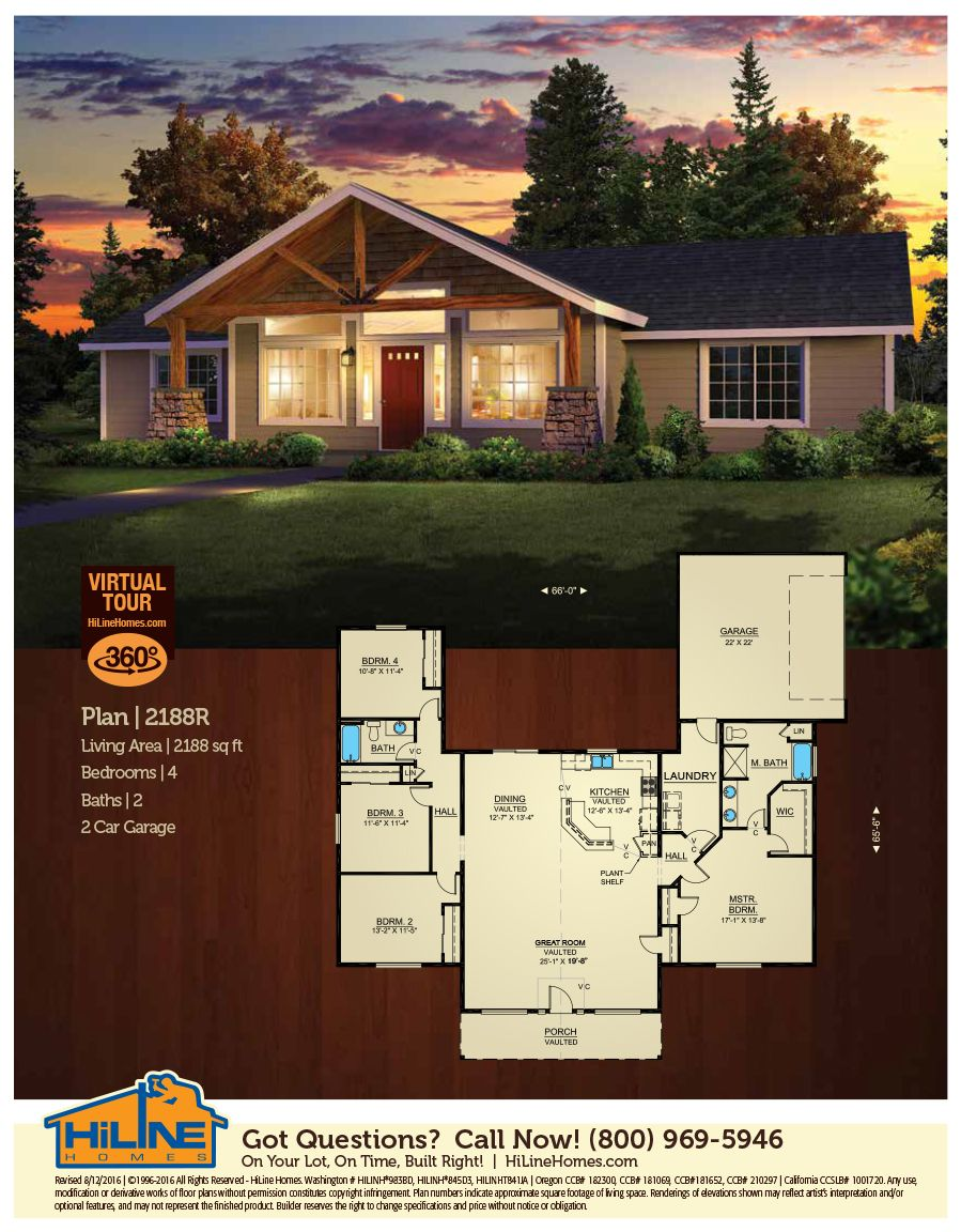 Plan 2188 Open Floor Plan 9 Walls In Vaulted Great Room 4 Bedrooms Secluded Master Suite Excellent F Floor Plans Ranch Home Floor Plans Floor Plans Ranch