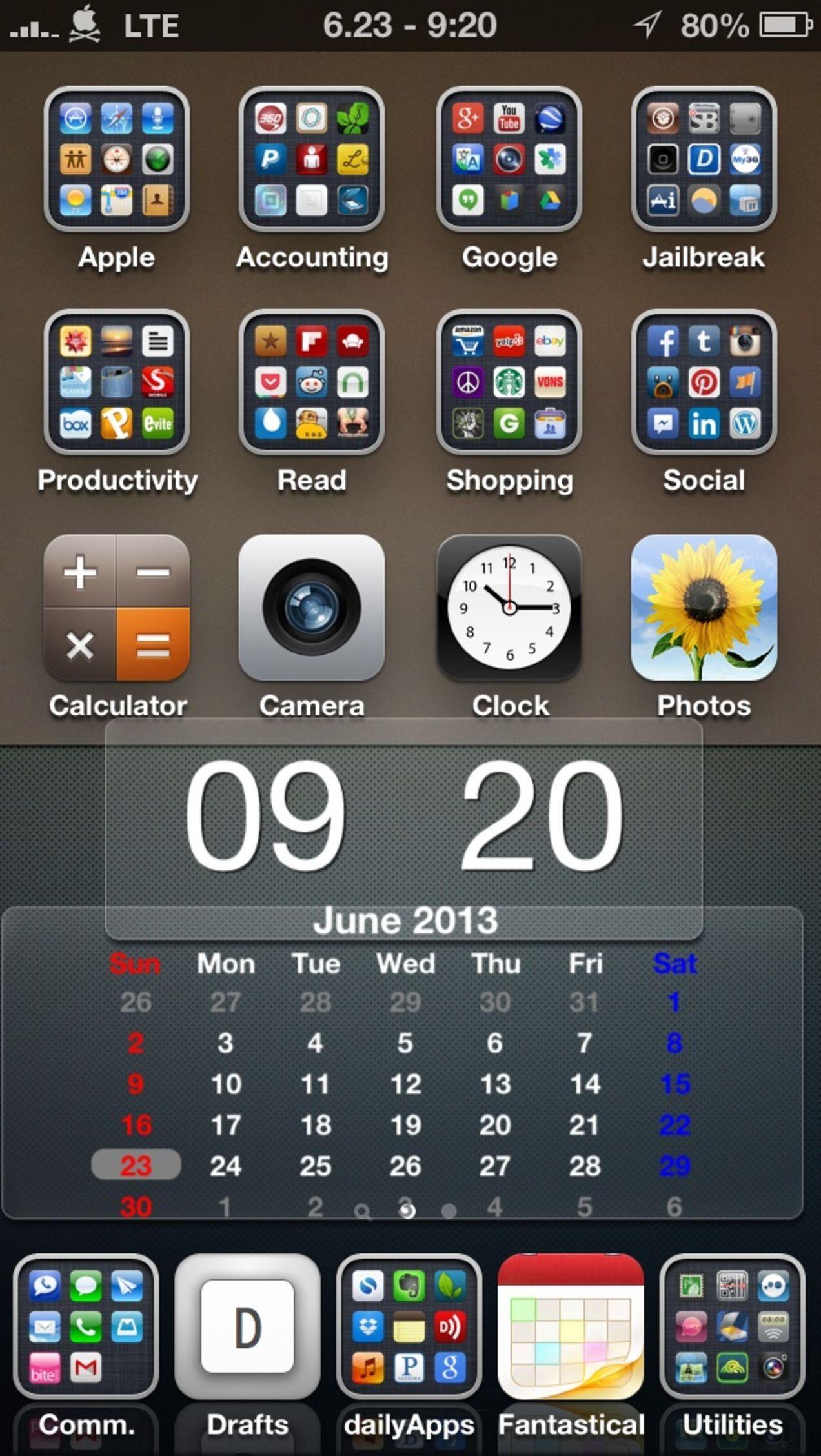 Tip iPhone Home Screen Organization. Iphone hacks, Ipad