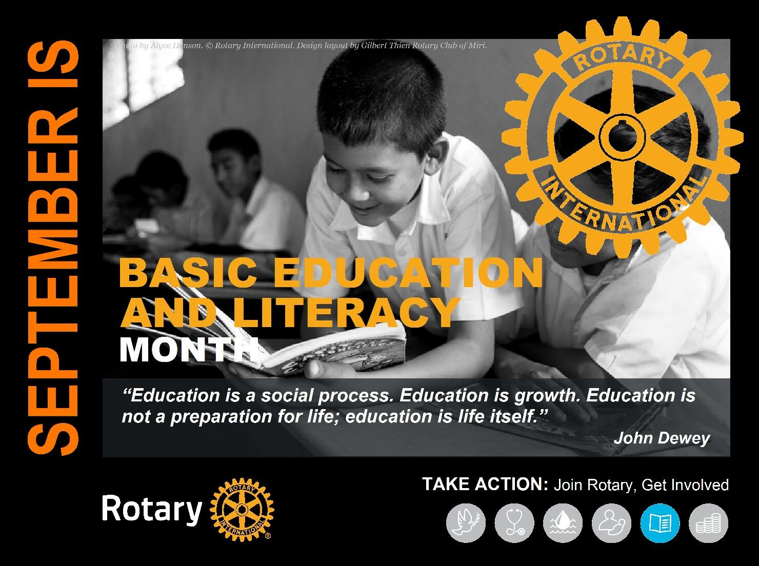 Rotary Mini Poster September Basic Education And Literacy Month By Gt Education And Literacy Education Rotary International