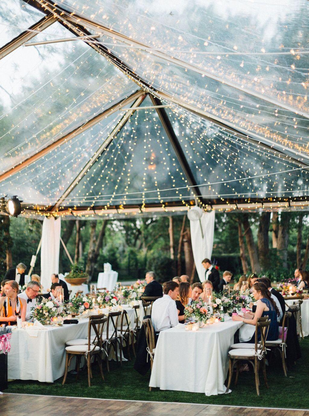 Dallas Arboretum Camp House Tented Wedding Reception Dallas