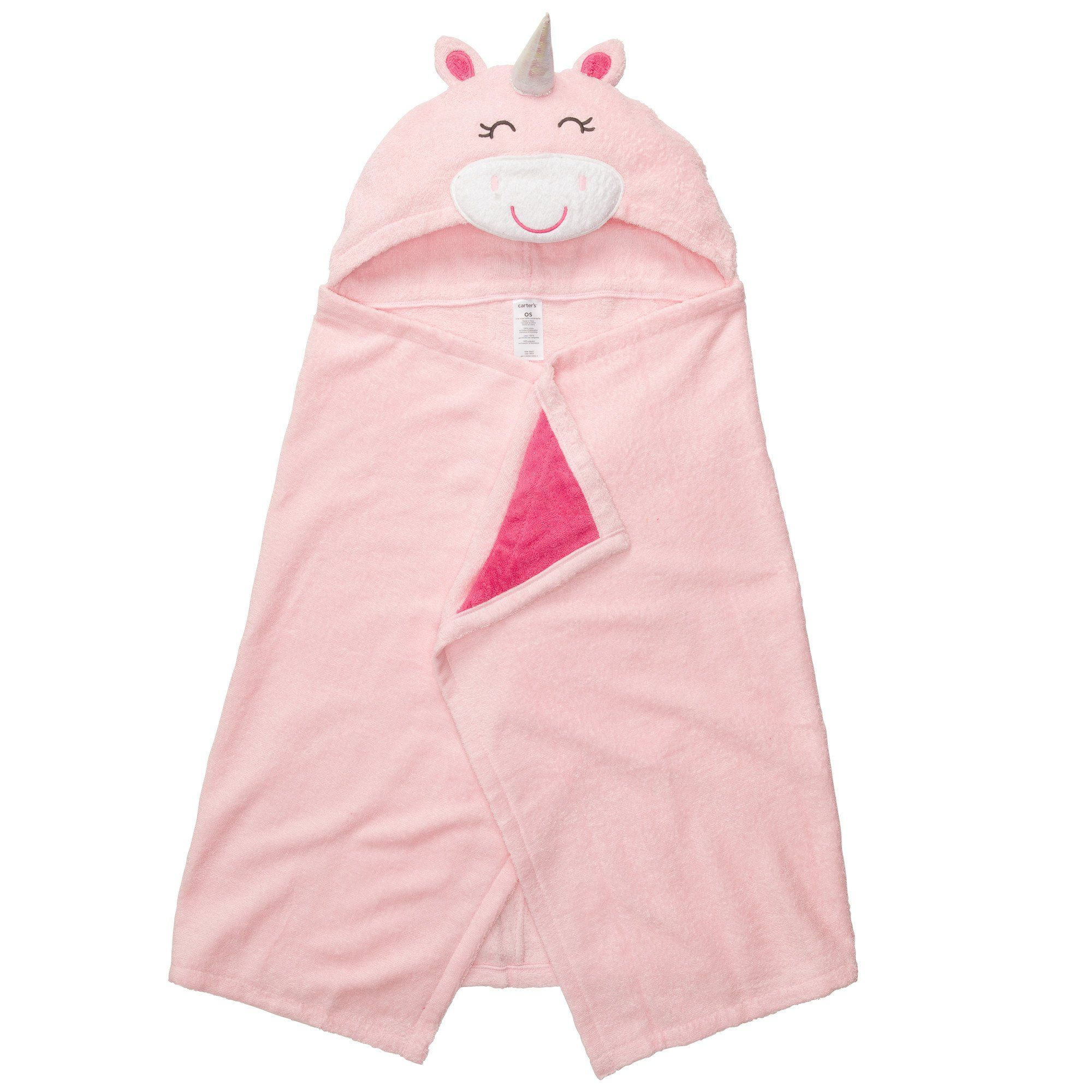 Amazon Com Carter S Hooded Towel For Babies And Infants Pink