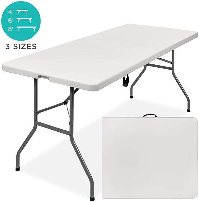 4//6FT Portable Folding Camping Picnic Table Party Outdoor Garden Chair Stool Set
