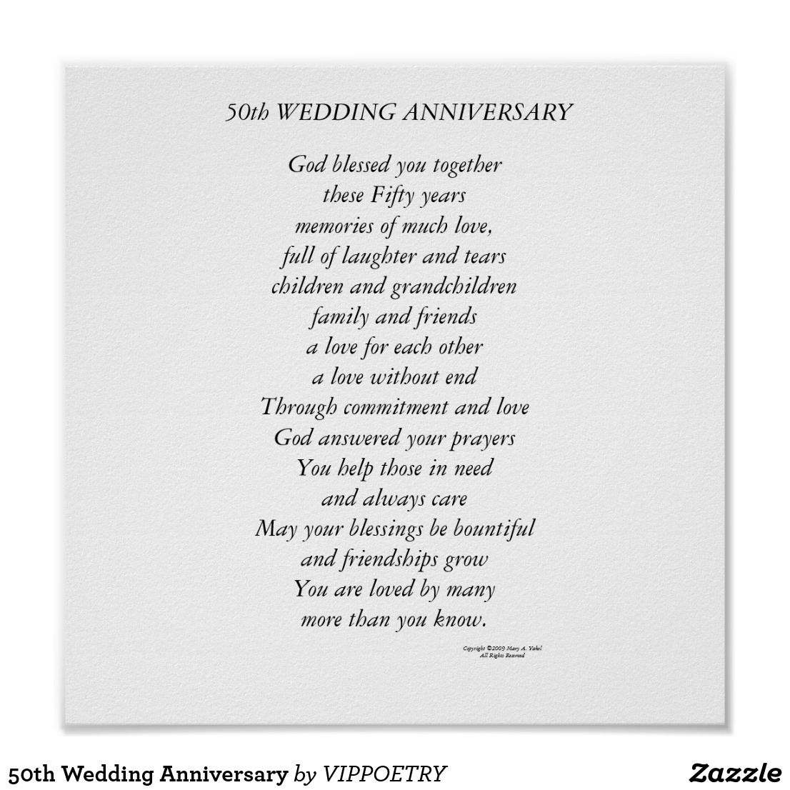 50th wedding anniversary poem