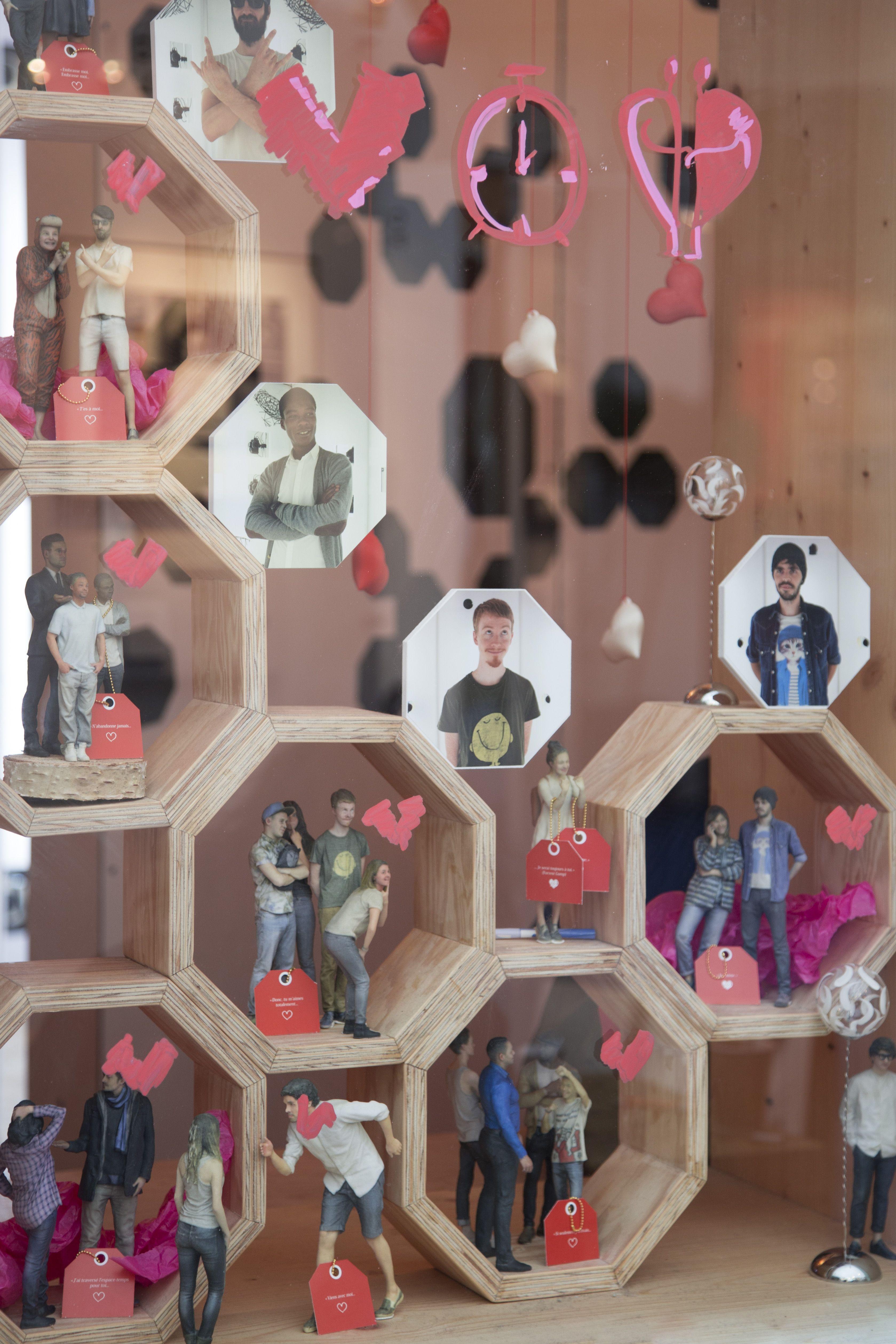 Les Moïmees amoureux !  #Moïmee3D #Figurine3D #Design #Imprimante3D #Technologie #Amour #140215 #14février