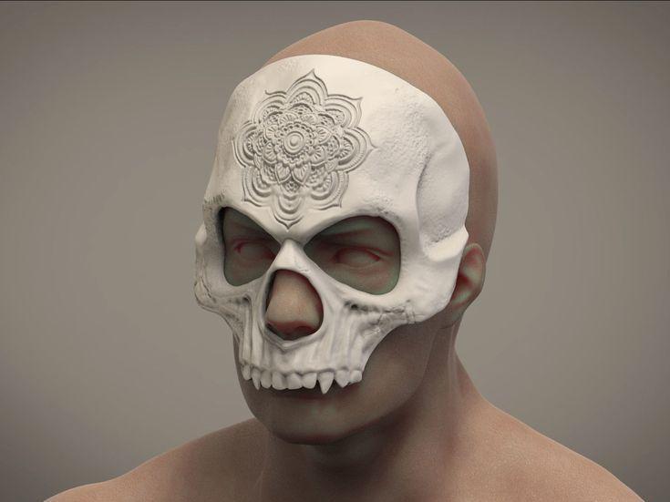 Mandala Halloween Maske Schädel Maske Maskerade Maske