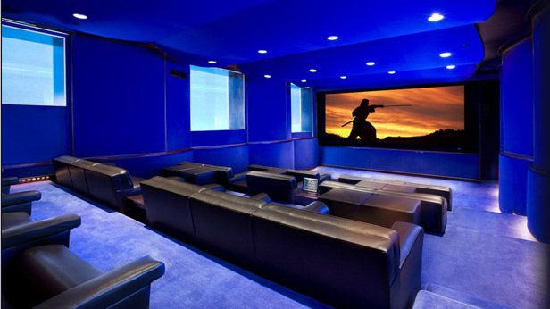 Beautiful Modern Home Theater Room Part 8