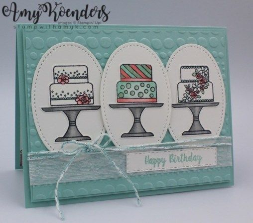 Stampin' Up! Piece of Cake For the Happy Inkin' Thursday Blog Hop