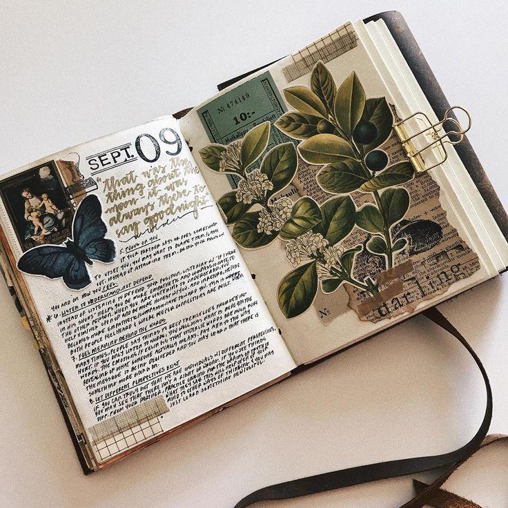 Führen eines Kunstjournals oder eines Sammelalbums. Ideen und Inspiration für das Reisejournal - # #artjournalinspiration