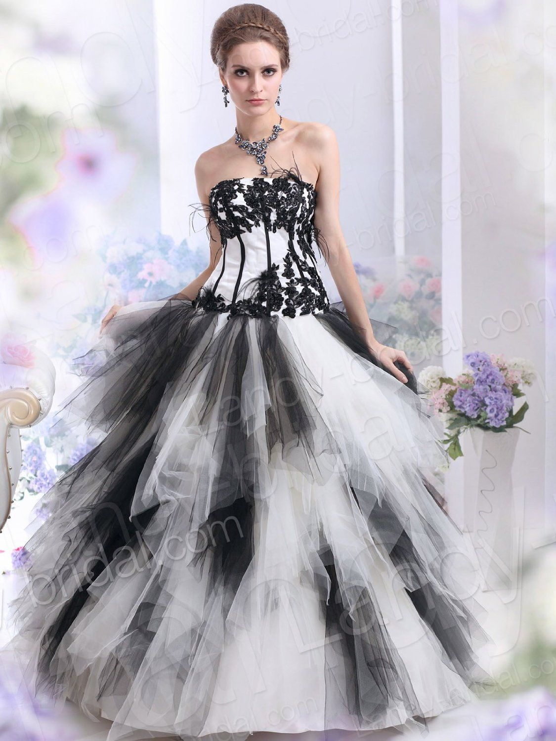 black and white gothic wedding dress Wallpaper | wedding- me ...