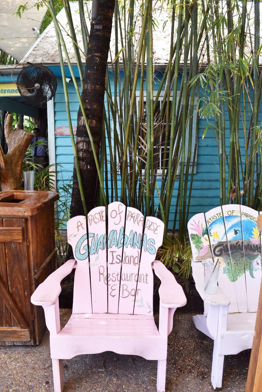 Guanabanas Tiki hut, Waterfront restaurant, Outdoor chairs