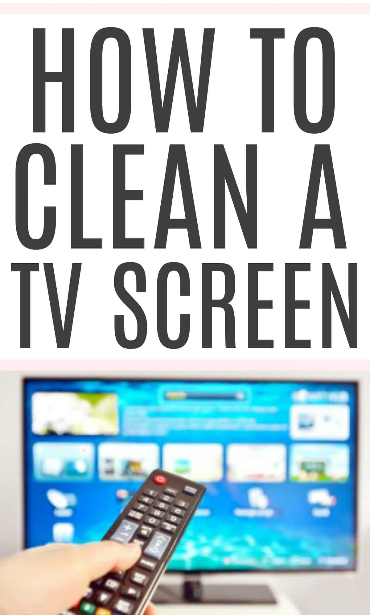 How to clean the tv screen cleaning hacks cleaning