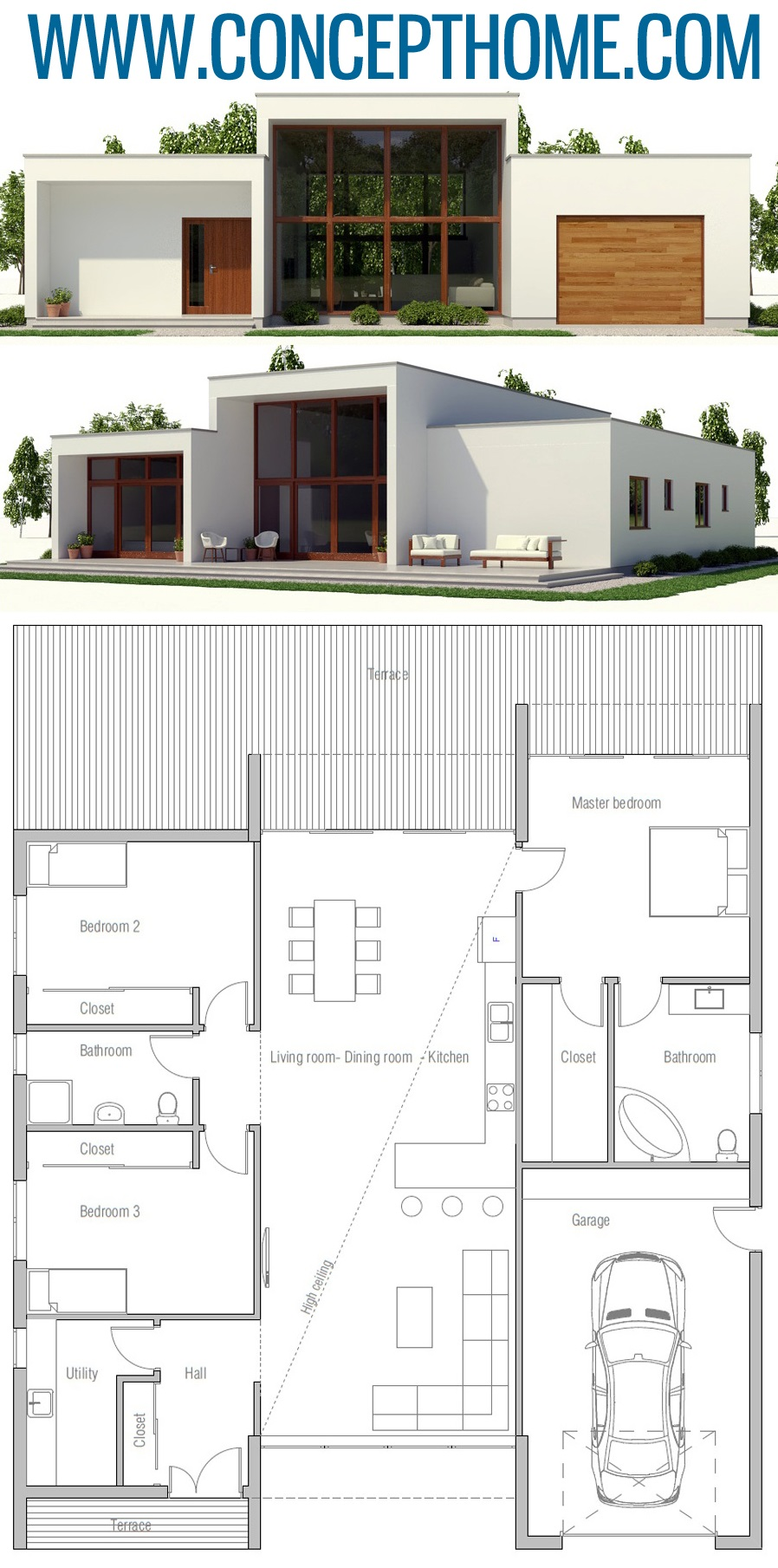 House Plan Ch393 House Plans Architecture House Modern Architecture