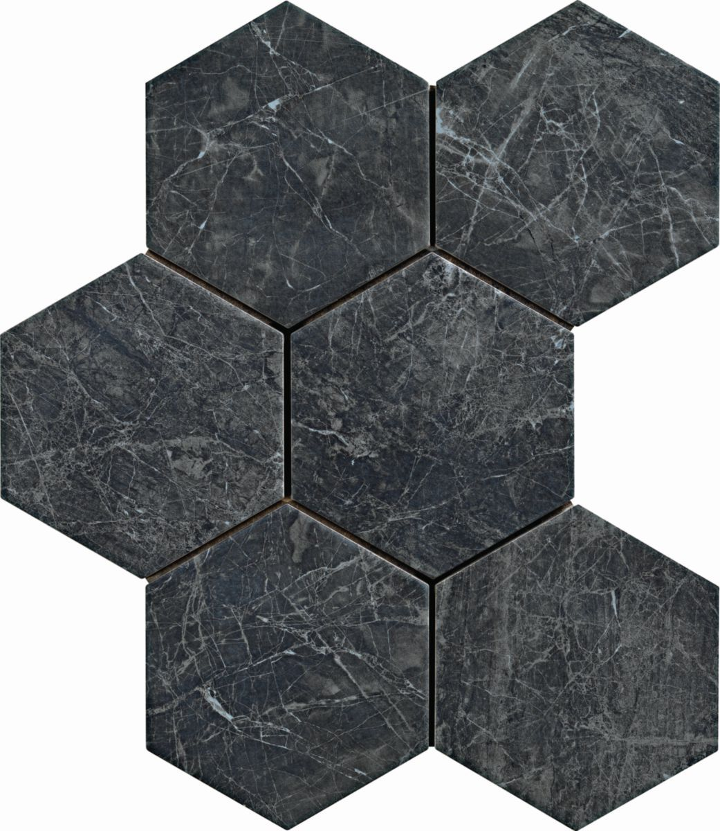 Carrelage Hexagonal Sol Interieur Gres Cerame Bistrot Infinity 21x18 2 Cm En 2020 Carrelage Hexagonal Hexagonaux Carrelage