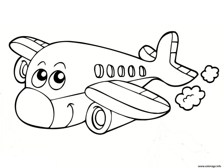 Coloriage Avion 14 Jecolorie Com Halaman Mewarnai Warna Buku