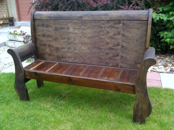 Peachy Sleigh Bed Bench Salvaged Repurposed By Lauralous On Etsy Spiritservingveterans Wood Chair Design Ideas Spiritservingveteransorg