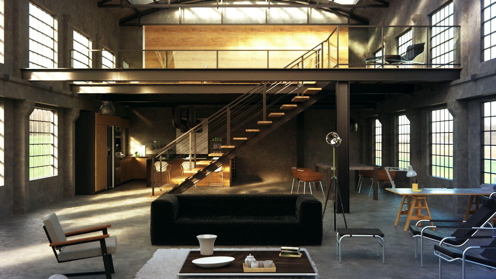 Industrial loft Industrial loft, Industrial style