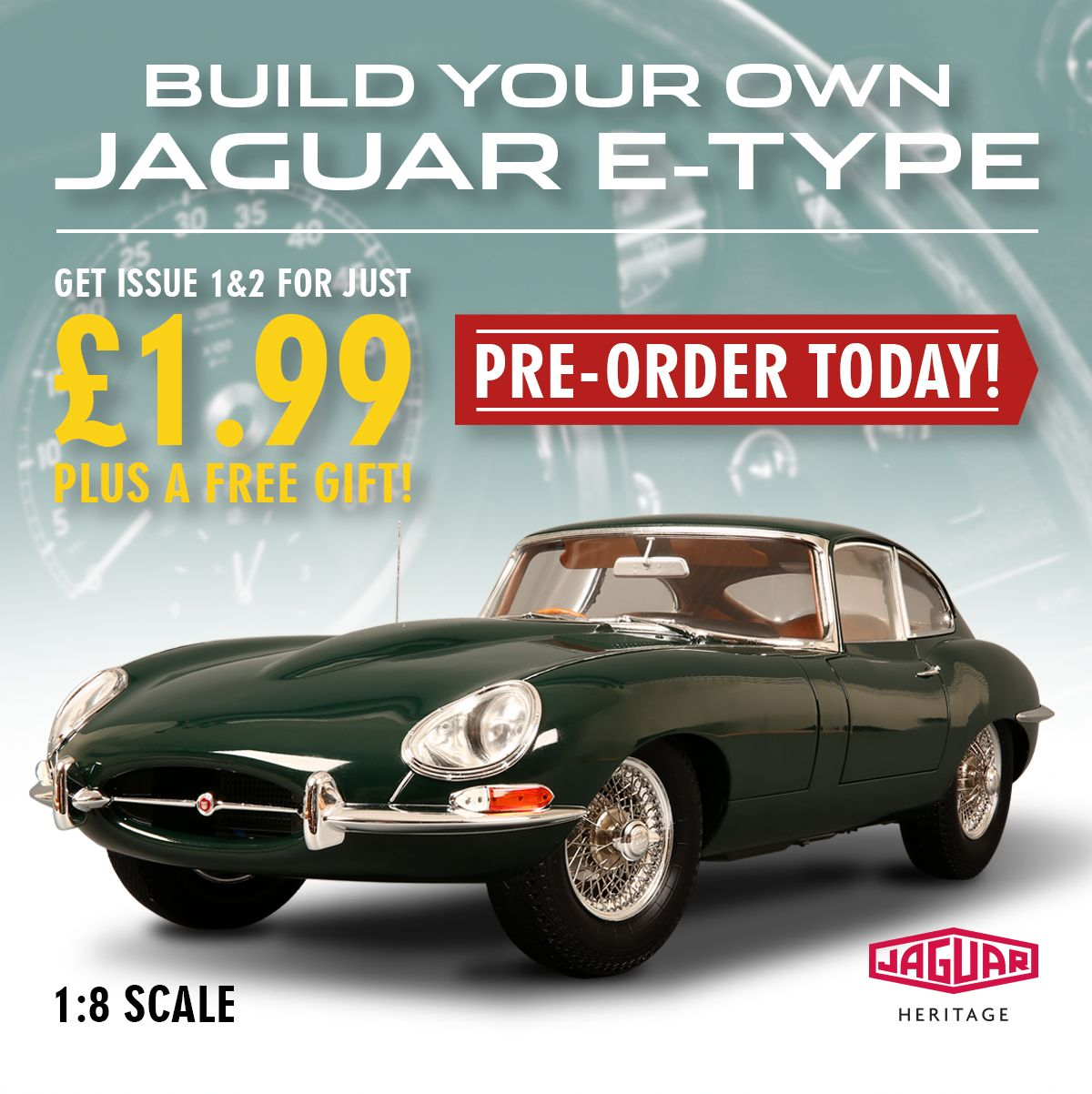 Our New 1:8 Scale Jaguar E Type Is Coming Soon! Pre Order Now To Build A  Stunning Replica Of This 1960s Motoring Icon!