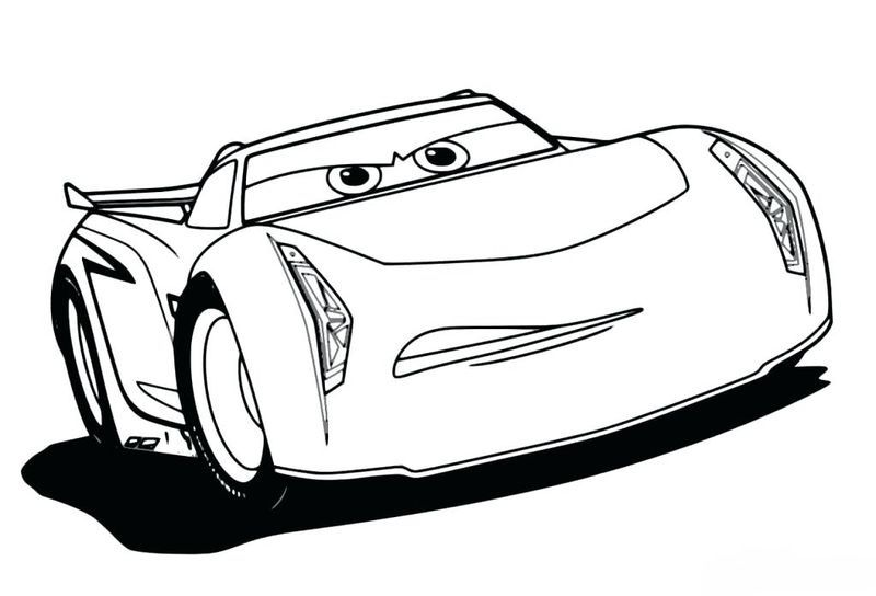 Cars 3 Characters Coloring Pages
